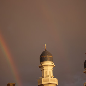 Rainbow  by Bharathidasan  Meenakshisundaram - Buildings & Architecture Places of Worship ( #rainbow #mosquewithrainbow #colors )
