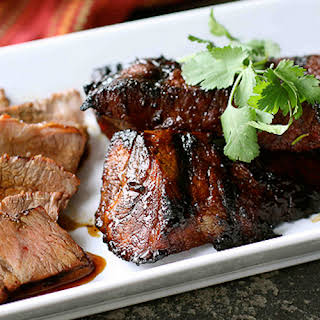 Grilled Tri-Tip Steak with Molasses Chili Marinade.