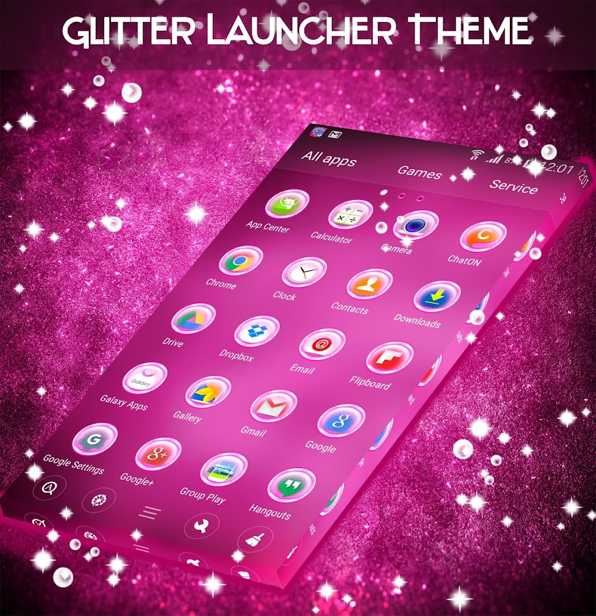 Glitter Launcher Theme- screenshot