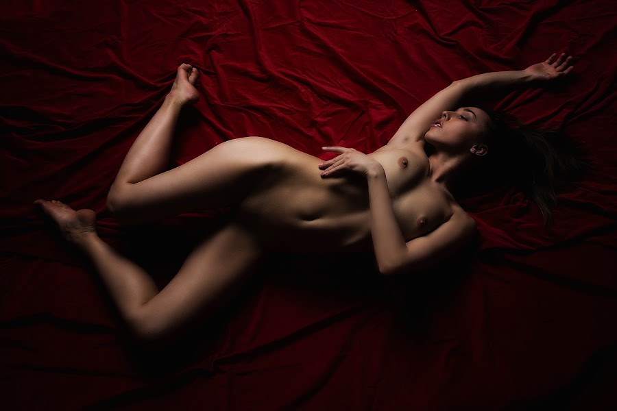 Red Floor by Carl0s Dennis - Nudes & Boudoir Artistic Nude ( red, studio, zurich, sexy, switzerland, erotic, nude, floor, female )