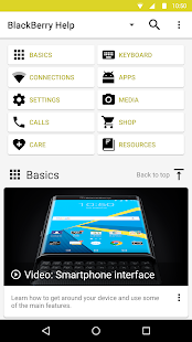 BlackBerry® Help- screenshot thumbnail