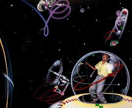 """Photo: """"Gilles dans l'espace"""", 1974, acrylique sur toile"""