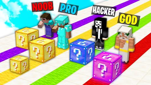 Lucky block race map for MCPE screenshots 1
