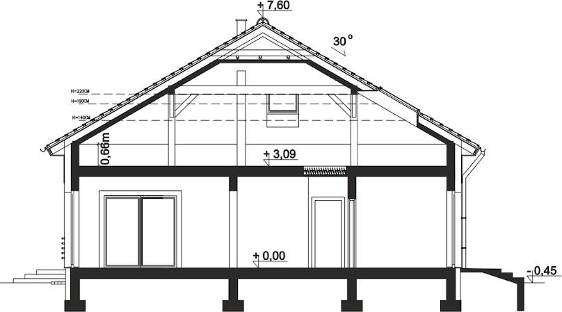 Projekt domu z dachem czterospadowym