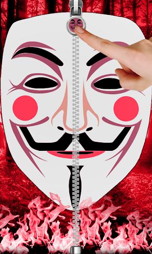 美しく素晴らしい匿名面ファスナーの背景のテーマ。