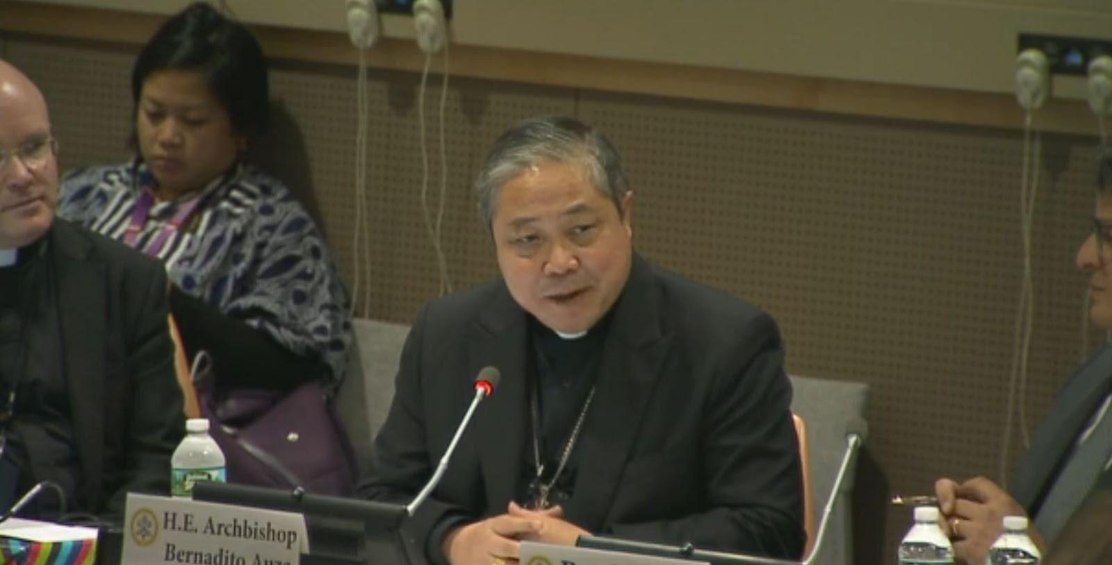 Đức Tổng Giám Auza mục nhấn mạnh đến những cách để bảo vệ chống lại nạn buôn người
