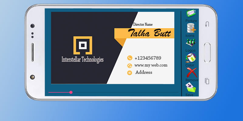 Business card maker android apps on google play business card maker screenshot reheart Gallery