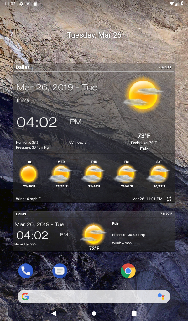 Weather & Clock Widget for Android Ad Free Screenshot 13