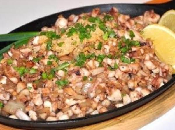 Filipino Squid Sisig