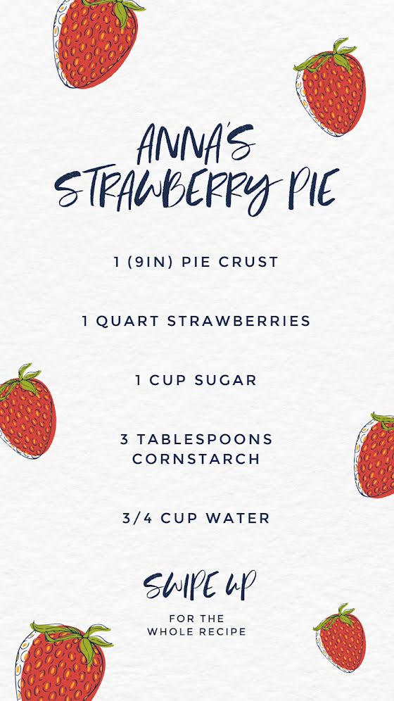 Anna's Strawberry Pie - Facebook Story Template