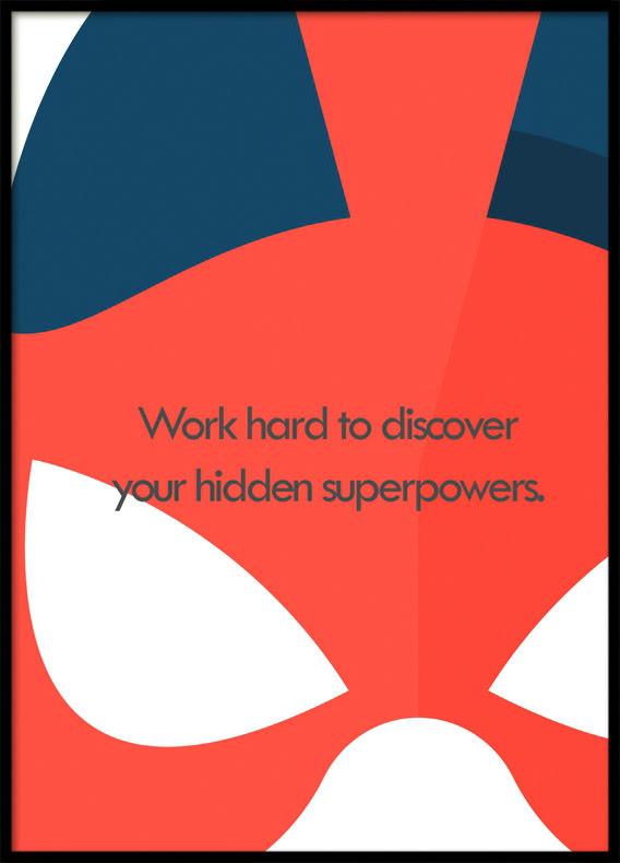 Hidden Superpowers, Superhero, Poster