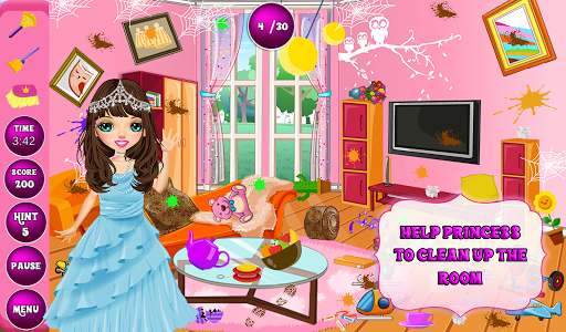 Princess Room Cleanup-Wash, Clean, Color by Number  code Triche 1
