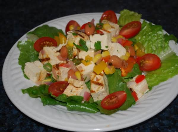 Barbecued Tofu And Grilled Corn Salad