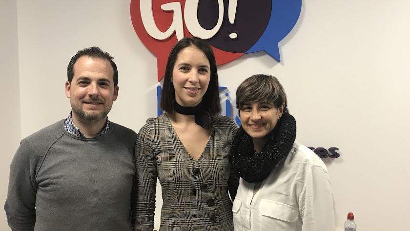 Go! British School, Marian Orozco, Silvia Vergara y Antonio Álvarez