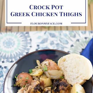 Crock Pot Greek Chicken Thighs.