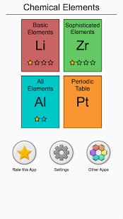 Chemical elements and periodic table symbols quiz apps on screenshot image urtaz Image collections