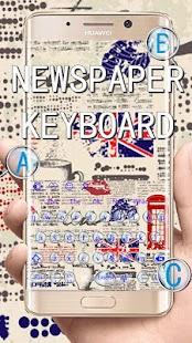 Newspaper Keyboard Theme - náhled
