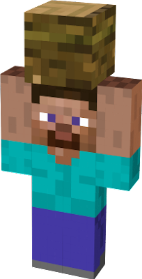 i tried to make to make a short steve with jungle log, but i don't know how to make a jungle log texture, please feel free to edit it.
