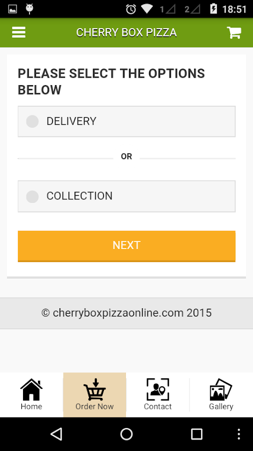 Cherry Box Pizza- screenshot