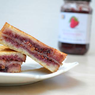 Raspberry Muenster Grilled Cheese Sandwich.