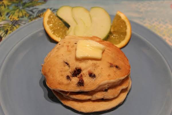 Banana Pineapple Chocolate Chip Pancakes