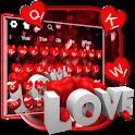 Red Glitter Love Keyboard icon