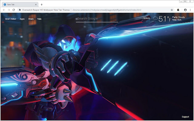Overwatch Reaper HD Wallpaper New Tab Themes