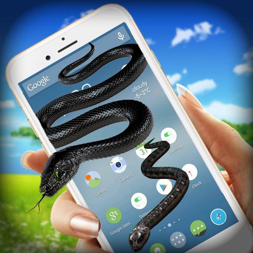 Snake On Screen - Hissing Snake in Phone Joke
