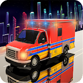 Neon Flying Ambulance Rescue Driver