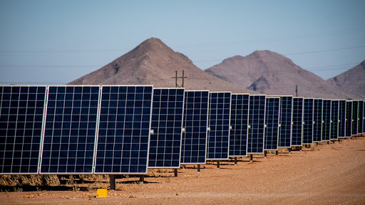 The Aggeneys Solar plant located in the Northern Cape province.