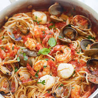 One Pot Seafood Pasta.