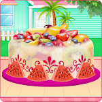 Fruity Ice Cream Cake Cooking