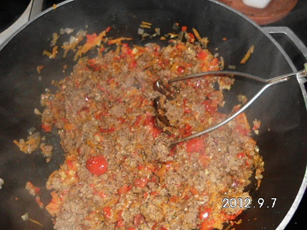 RAGU: Add about 1-2 tsp. of olive oil in deep pot, add shredded carrots,...