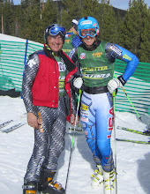 Photo: Ted Ligety and an elderly snowboarder