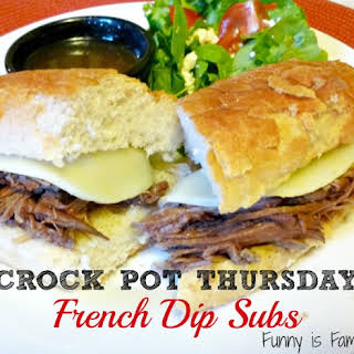 Crockpot French Dip Subs.