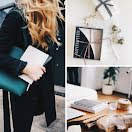 Workspace Collage - Pinterest Square Pin item