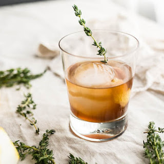 Bourbon Thyme Cocktail.