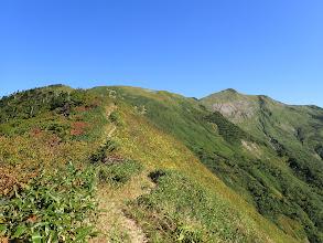 別山への上りに