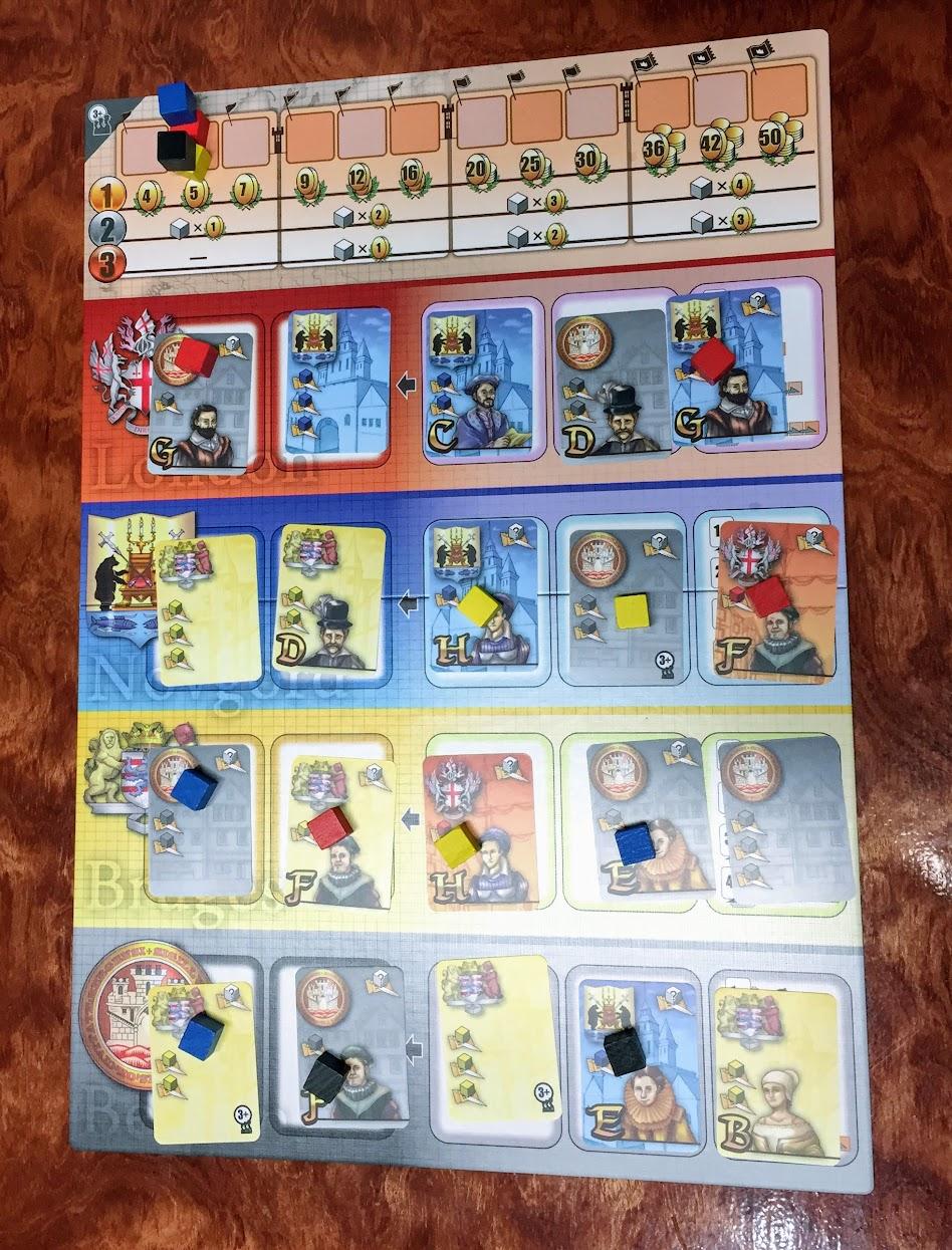 ハンザの女王:ゲームボード