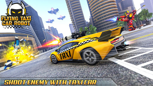 Flying Taxi Car Robot: Flying Car Games  screenshots 2