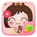 (FREE) GO SMS KOKESHI STICKER icon