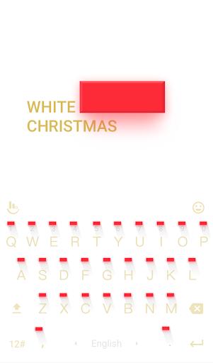 White Christmas Keyboard Theme