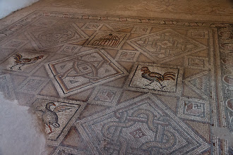 Photo: Tiles in the Madaba mosaic museum