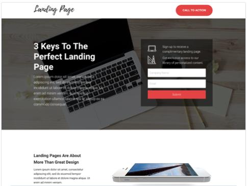 Landing page miễn phí của HubSpot - Landing Form