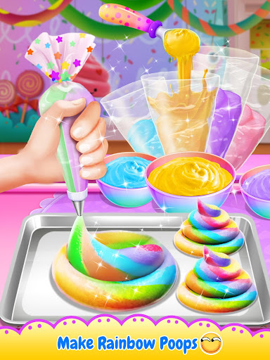Unicorn Poop - Sweet Trendy Desserts Food Maker 1.5 screenshots 2
