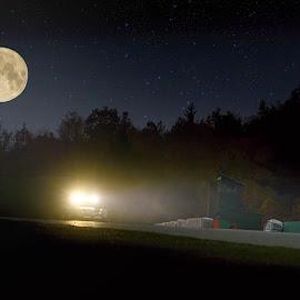 Moonracing by Jiri Cetkovsky - Sports & Fitness Motorsports ( car, lights, night, race, le brno )