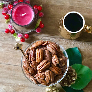 Easy Caramel Coffee Pecans - with FREE Printable Label Template!.