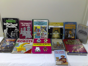 Photo: Childrens' (mostly) ROBOT books. Most picked up 22/2/10 at Library sale.