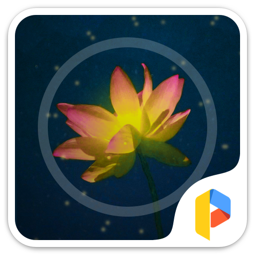 Glitter Lotus Theme for FB 個人化 App LOGO-硬是要APP