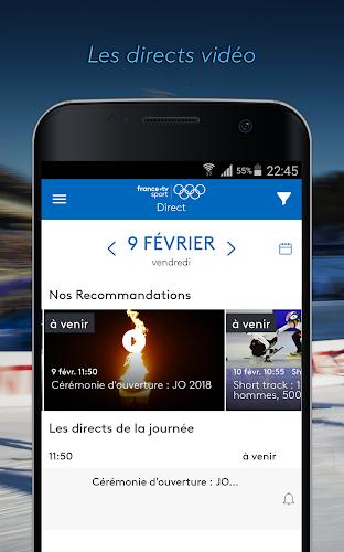 france.tv JO  -  Regarder les Jeux Olympiques 2018 Android App Screenshot